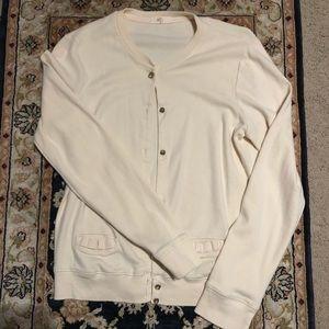J Crew City Tee Cardigan Sweater Cotton Medium